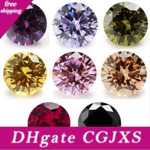 50PCS 멀티 크기 0 0.8 ~ 10 .0mm 8 색 혼합 색상 당 색상 블랙 / 핑크 / 퍼플 느슨한 큐빅 지르코니아 레드