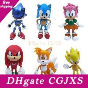 Dhl Sonic Boom Amy Rose Sticks Tails Werehog Pvc Action Figures Kids Toys Knuckles Dr Eggman Anime Pop Figurines Dolls Gift Toys