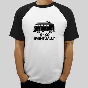 Männer Mode Tees zufällige Spitze T T1 0-60 Meilen pro Stunde Schließlich Lustige Bus V Dub Surfer T-Shirt und weise T-Shirt