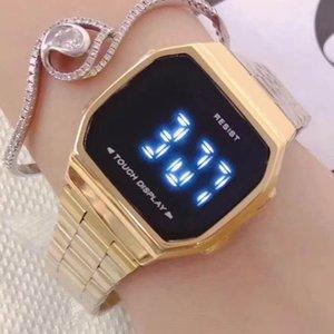 LED touch GW Sport Shock Orologi di lusso Orologi Impermeabili bracciale in acciaio inossidabile per le donne di svago degli uomini automatici intelligenti Orologi Shock