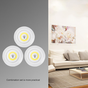 Hot Wireless Dimmable COB LED Under Cabinet Light With Remote Control Battery LED Closets Lights For Wardrobe Bathroom Lighting