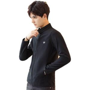 Pop2019 Bahar Ve Sezon Giyim Gençlik Erkek Ceket Trend Zaman Yakışıklı Tut Sıcak sallayın Fleece Coat Soğuk