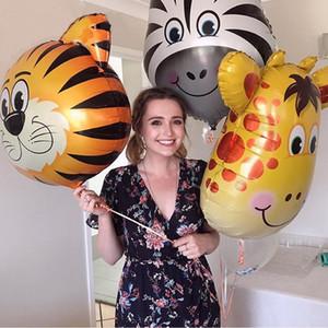 45*55cm Animal Balloons Birthday Party Decoration Lion Monkey Head Rabbit Zoo Foil Balloon Holiday Wedding Kid Gift Baby Toys