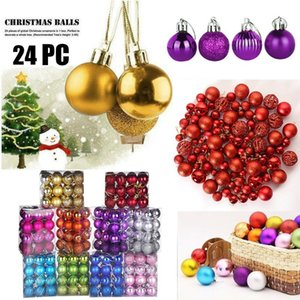 30mm Plastic Christmas Tree Ball Bauble Hanging Home Party Ornament Decor 24PC christmas tree decor ball weihnachts kugel T3