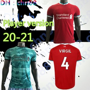 (21) 집에 떨어져 Player 버전 20 3 레드 블랙 녹색 축구 저지 2020 2021 축구 셔츠
