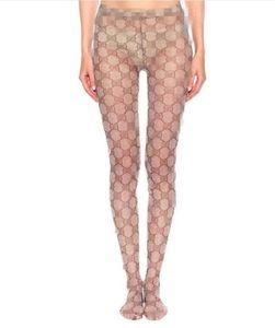 Elegante lindo letra impressa calças justas Tide macio fino apertado por Mulheres Nightclub Meia-calça Mulheres Magro meias