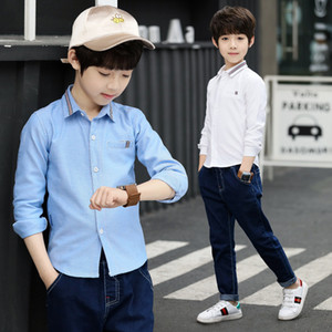 children's clothes boys spring shirts long sleeved casual shirts daily shirts for boys school style clothing