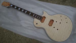 комплекты на заказ Неполной гитара Mahogany Body ватного Maple Top Soild Body разобранная электрическая гитара