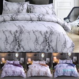 Marble Pattern Bettwäsche-Sets Polyester Bettwäsche Bezug-Set 2 / 3pcs Twin Queen Doppelbettbezug Bettwäsche (Kein Blatt Nr Filling)