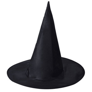 Decoração de Halloween Witch Masquerade Party Hat Mulheres Preto Witch Hat Assistente Top Caps Halloween Acessório partido do traje Cap VT1496