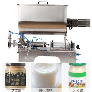 Popüler nicel karıştırma dolum makinası yapıştırın dolum makineye 220V 110V pnömatik karıştırma dolum makinası karıştırma yapıştırın
