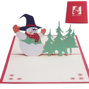 Greeting Christmas Cards 3D Up Cards Merry Christmas Wedding Birthday Greeting Card Party Decoration