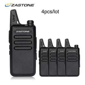 4pcs / lot zastone x6 휴대용 워키 토키 UHF 400-470MHz Walkie Talkie Kids 햄 라디오 트랜시버 미니 핸드 헬드 라디오