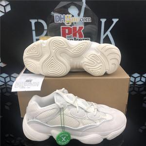 500 Desert Kanye Wes des femmes des hommes en cours d'exécution shoest jaune formateurs de sport rose noir utilitaire 3M sel super lune douce vision os blanc
