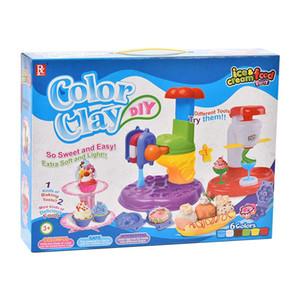 machine à crème glacée jouet partie alimentaire Crème glacée affichage couleur argile machine popsicle porte jouets puzzle moule cadeau