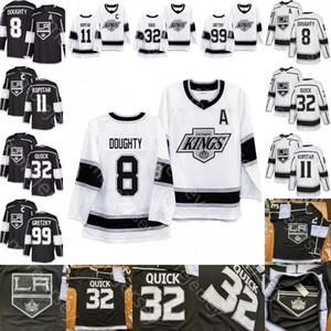 Özel Los Angeles Kings Buz Hokeyi Jersey Anze Kopitar Wayne Gretzky Drew Doughty Jonathan Quick Tüm Dikişli Ve Nakış Boyut S-3XL