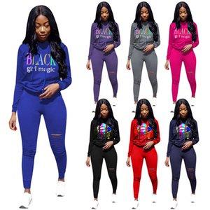 polainas para mujer de la sudadera con capucha de ropa deportiva diseñador de trajes de 2 piezas camisa de manga larga de chándal pantalones de jersey sportsuit sudaderas klw4790