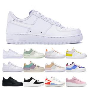 force 1 erkekler kadınlar için koşu ayakkabıları Nefes siyah krem lacivert çok renk pembe Açık spor sneakers boyutu 36-45