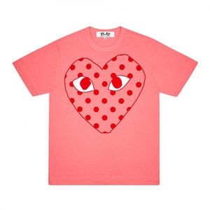 2020 Men T Shirt Fashion Summer New women Heart-shaped T shirts Casual Tshirt Breathable Short Sleeve Tees Heart Print Funny Top Tees M-XXL