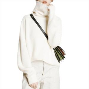 الشتاء الياقة المدورة البلوزات المرأة فضفاض رئيس سمكا قصيرة الكشمير سترة الإناث المعتاد امرأة الملابس ذات نوعية جيدة