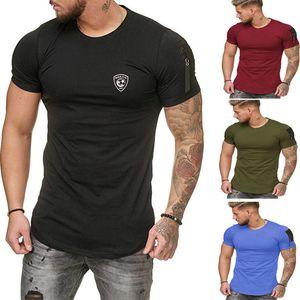 T-camisa ocasional de 2020 nuevos hombres de los hombres de manga corta de ropa básica de la camiseta del estiramiento de la camiseta de los hombres de la enagua Chemise homme de ropa deportiva