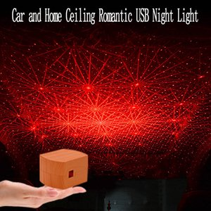Car Atmosphere Ambient Star Light DJ Colorful Music Sound Lamp Remote Control Spotlight Voice Control LED Light USB Plug