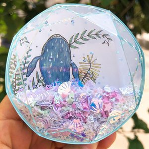 New quicksand fairy tale white whale pattern Invisible companion box pupil Glasses Glasses box