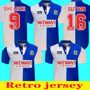 1994 Início 95 Blackburn Camisa Retro Shearer 9 Blackburn Rovers Jersey Retro Fútbol 94 95 Blackburn Retro Sutton 16 Ripley 7 Jersey