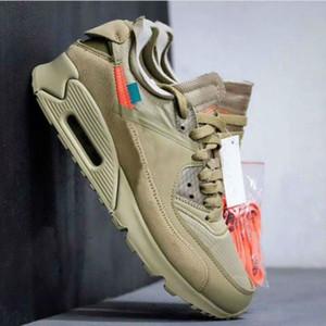 Nuevos 1990 x 90 para hombre blanca del Cono Negro zapatos de las mujeres zapatillas de deportes del desierto hombres Ore AA7293 de los zapatos corrientes US5-11