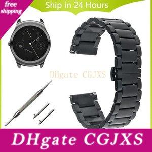 20mm 22mm liberación rápida Ver Banda Para Ticwatch 1 46mm / 42mm pulsera de la correa 2 / E de la mariposa de la hebilla de correa de acero inoxidable reloj