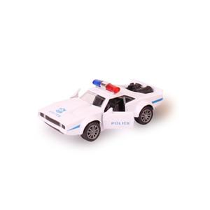 Pressofuso simulazione macchina della polizia lega modella Sport Cars, auto pull-back di raccolta di veicoli per i ragazzi, per il bambino NO Suono e luce