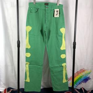 Multi-карман штаны Мужчины Женщина Вышивка брюки Зеленые брюки dongguan_ss
