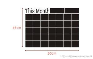 سبورة 2019 جديد هذا الشهر ملصقات الحائط لاصقة خطة شهري التقويم السبورة ملصقات الحائط اللوازم المدرسية مكتب 46.5 * 58.5CM 002