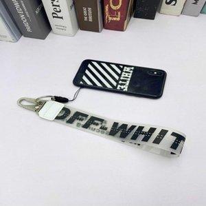 2020 aus Kunststoff transparent Handy-Schlüsselkette der europäischen und amerikanischen Gezeiten Markenjeans mit Handkamera Anhänger weiß belt88