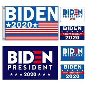 Оптовые Рекламно 90 * 150см Открытый Парад полиэфирные Джо Байден 2020 Президентские выборы банер Флаги DHL Бесплатная доставка