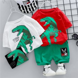 Fashion Summer Children Boys Girls Clothes Kids Cotton dinosaur T-Shirt Short 2Pcs Sets Toddler Clothing Sets Infants Tracksuits X0923