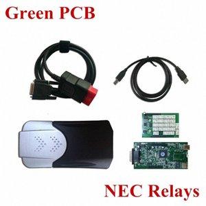 Wholesale- N-EC Relais Green PCB Board TCS CDP + PRO Sans les voitures Bluetooth Tool de diagnostic 2015.1 ou 2014.3 KWPS en option #