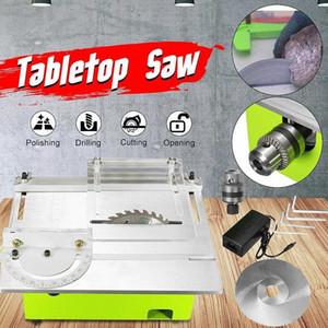 Mini-Tisch Sägeblatt Handgefertigte Holzbearbeitungsdrehbank elektrische Schneide Schleifen Polieren Schnitzen Maschine DC 12V 24V Vv2G #
