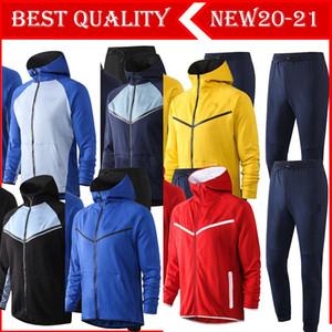 2021 soccer Jacket training suit Training adult Uniform Football Uniform Jacket tracksuit with hooded pant kit more color