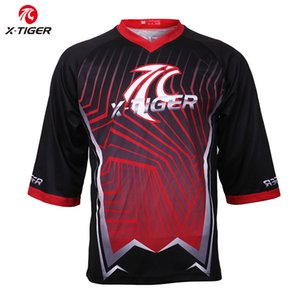 X-Tiger Pro Downhill Jersey Quick-Dry Motocross Jersey MTB Bike Cycling DH Shirt Summer Autumn Mountain Bicycle Cycling