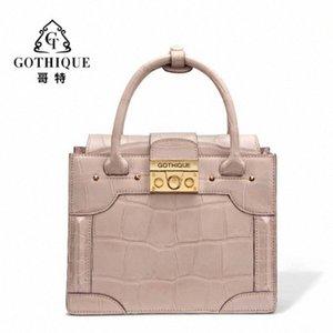 Gete новой сумка кожи крокодила для женщин личности способа мешка плеча кожаной сумки пакет Емкого Женской сумка d2sp #