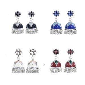 Chandelier Earrings for Women Fashion Indian Vintage Ethnic Style Ball Fringe Tassel Bohemian Earrings Egyptian Gypsy Turk Jewelry