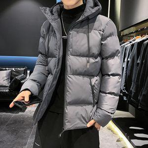 2020 Kış Parkas Coat Erkekler Yeni Moda casaco masculino Casual Streetwear Isıtıcı Kalınlaşmak Fermuar Kapşonlu Ceketler Men büyük seçmek