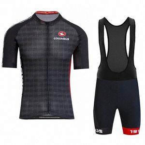 2020 2020 COLUMBUS CENTO ciclo la ropa Set de ropa de los hombres de manga corta Jersey y los cortocircuitos Kit de Verano MTB Ropa S6B8 #