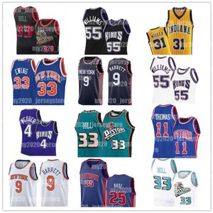 Indiana Pacers Reggie Miller New Detroit Derrick Rose 25 Pistons Jerseys RJ Iorque Barrett Knicks Sacramento Patrick Jason King Williams Ewing