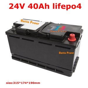 lithium 24V 40Ah LifePo4 battery deep cycle for 1200W golf cart Boat backup power scooter inverter Xenon lights + 5A charger