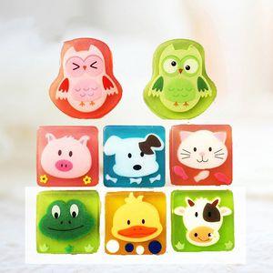 100% natural Children's Handmade Soap Cute Cartoon Bear Bathing Cleansing Soap Bubble Essential Oil Handmade Soap 20 pcs free DHL