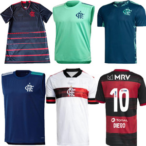 20 21 Flamengo TROISIÈME SOCCER JERSEYS 2020 2021 Guerrero Diego Henrique Gilet Training Wear Chemise de football Flamenco CR Noir Camiseta de futbol