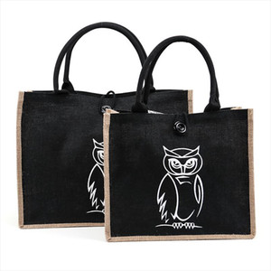 Summer Flamingo Owl Linen Tote Large Capacity Female Casual Shoulder Bag Handbag For Women Beach Shopping Bag
