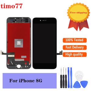 """Top qualidade LCD de 4,7"""" Touch Screen digitador com frame para iPhone 8G preço de fábrica com garantia de 2 anos com vidro temperado."""
